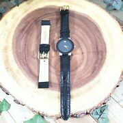 Men's Movado Watch Japanese Movements Swiss Face Leather Hadley-roma Band Includ