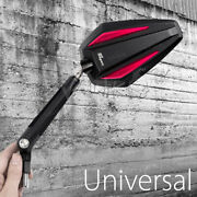 Achilles Wing Mirror Red 3d Block Slotted Arm M10 1.25p