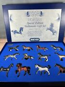 Breyer Just About Horses Special Edition Stablemates Gift Set 1998 W/ Coa