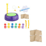 Mini Diy Clay Pottery Wheel Craft Kit For Kids Paint Kits Home Accessories