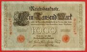 Germany Empire Imperial Reichsbanknote 1000 Mark 1898 Serie B 176316