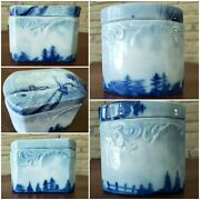 Antique 1900 Delft Trinket Box By Philip Rosenthal Germany ☆ Immaculate ☆