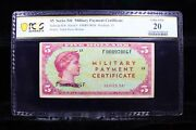 Schwan 856 Series 541 5 Military Payment Certificate Pcgs Vf20 Mpc Rare