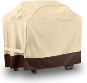60 Inch Premium Bbq Grill Cover Large Beige Heavy Duty Uv And Water-resistant