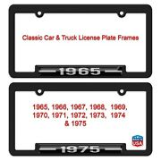 Classic Car And Truck Year Model License Plate Frame. 1965-1975