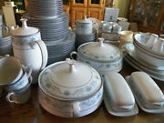 100 Piece Set Noritake Blue Hill 12 Place Settings And Serving Pieces Local Pu