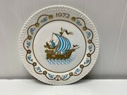 The 3rd Spode Christmas Collectors Plate Ship Limited 1972 England Bone China