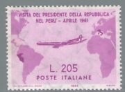 1961 Republic Italian Stamps Year Complete 37 Values New Mnh C