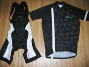 De Marchi Cycle Bib Shorts And Jersey Size Medium Italy Hungary Black And White
