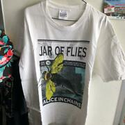 Vintage 1990 Alice In Chains Print Tee Shirt Mens L Size White Color