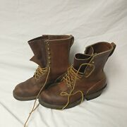 Whites All Leather Legend Brown Smokejumper Firefighter Logging Boots Size 9.5f