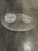 Vintage 1930's/40's Clear Glass Dressing Table Vanity Set