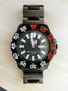 Seiko 5 Sports Discontinued Day Date Rare Stainless Steel Automatic Mens Watch