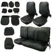 For 2017-2021 Ford F250 F-250 Super Cab Xlt Front And Rear Seat Cover Complete Set