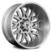 American Truxx At184 Dna Wheels 24x14 -76, 5x127, 78.1 Brushed Rims Set Of 4