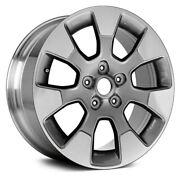 For Jeep Wrangler 18-19 Alloy Factory Wheel 7 I-spoke Polished And Medium Charcoal