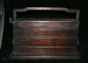 15.2 Antique Old China Dynasty Huanghuali Wood Inlay Shell Portable Food Box