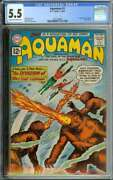 Aquaman 1 Cgc 5.5 Cr/ow Pages // 1st Appearance Quisp 1962