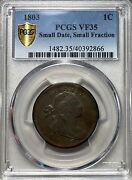 1803 Draped Bust Large Cent 1c Pcgs Vf 35 Small Date Small Fraction