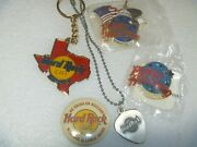 Vintage Hard Rock Cafe Necklace Heart Pin And Planet Hollywood Dc Orlando Dallas