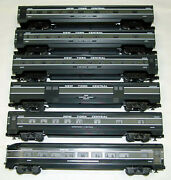 Williams O Scale New York Central Nyc 72 Ft. Streamliner 6 Passenger Cars
