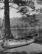 1990 Vintage Bruce Weber Matted 14x11 Photo Gravure Outdoor Wooden Canoe Lake