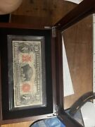 1901 10 Vf/xf Bison Ten Dollar Buffalo Large Size Red Seal Note Currency