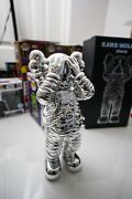 Kaws Space Holiday Figure Silver In Hand Ready To Ship