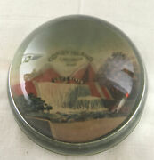 Vintage 50's 60's Coney Island Lost River Cincinnati Oh Glass Paperweight 3
