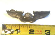 Antique Sterling Silver Vintage Us Military Wings Pin