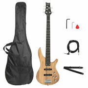 Burlywood Professional Gib Electric 5 String Bass Guitar With Bag And Accessories