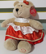 Starbucks 109th Bearista Teddy Bear Plush Toy 2013 Soft Toy About 17cm Seated