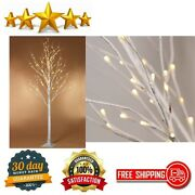 Lighted Birch Tree 6 Feet Led Home Wedding Festival Party Christmas Decoration