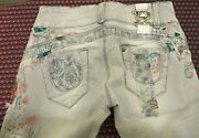 Rare890£raw Embroidered The Row Beaded Flowers Jeans W27 Net A Porter