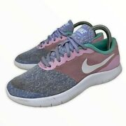 Nike Womens Multicolor Flex Contact Gs Lace Up Classic Running Shoes Size Us 5.5