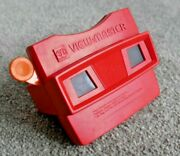 Rare Vmi Viewmaster Model G Viewer Solid Red / Flat Orange Handle K476