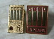2 Vintage Cbcl Engineering Consulting Firm Long Service Pins 5 And 10 Years