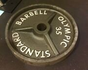 """Ivanko Barbell 35 Lb Om-series 2"""" Olympic Weight Plates Used"""