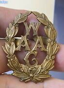 Ww1 Waac Womenandrsquos Army Auxiliary Corps Officers Bronze X 100 Original Cap Badge