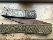 Victorian 5th Dragoon Guards Waist Belt With Silver And Brass Buckle - Beauty