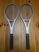 Vintage Amf Head Arthur Ashe Competition Metal Tennis Racket Lot Of 2