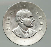 1966 Ireland Easter Rising W Pearse Irish Antique Silver 10 Shilling Coin I92020