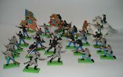 Britains Ltd 1971 Deetail Lot Of 28 Toy Army Soldiers Us Civil War Confederate