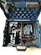 Bosch Gcl25 Five-point Self Leveling Cross-linetool And Lr7 Line Laser Receiver