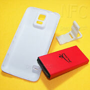 9000mah Nfc Extended Battery Door Hard Cover Bracket For Samsung Galaxy S5 S902l