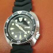 Seiko Vintage Overhaul 3rd Diver Day Date Ss Automatic Mens Watch Auth Works