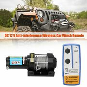 Electric Recovery Remote Control 4000lbs Winch Kit Dc12v Atv Trailer Truck Car