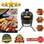 Multifunctional Kamado Grill Ceramic Charcoal Egg Grill Outdoor Smoker Bbq Grill