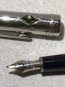 Fountain-pens Meisterstck Jungle Eyes Black Silver Excellent F/s