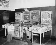 Row Of Bingo Pinball Machines Sign Must Be 21 Vintage 8x10 Reprint Of Old Photo